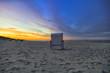 Strandkorb am Sandstrand auf der Insel Usedom