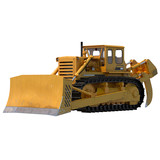 Heavy duty bulldozer isolated on white 3D Illustration