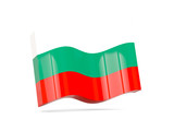 Wave icon with flag of bulgaria