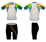 Green yellow cyclist,cycling vest vector design on a white background