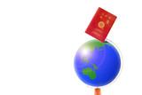地球儀とパスポート