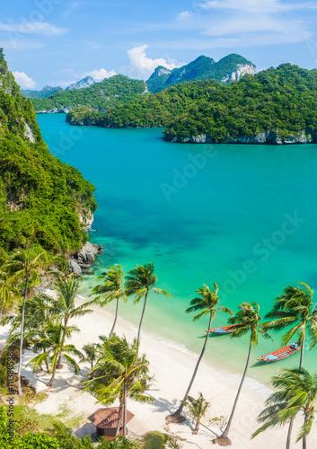 Fotobehang Eilanden Paradise beach on tropical island. Ang Thong National Marine Par