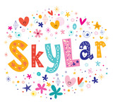 Skylar girls given name decorative lettering type design