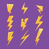 Fototapety Lightening Bolt Set