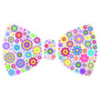 floral bow tie on white background