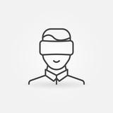 Man wearing VR icon