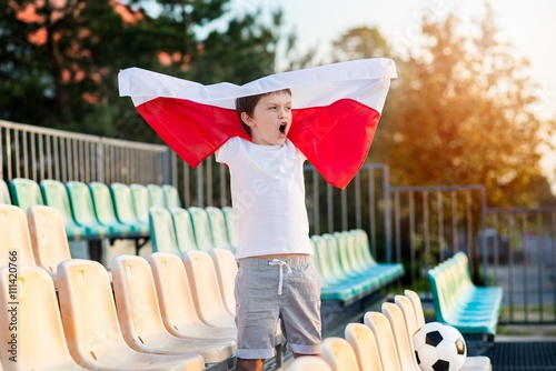 Little boy - Polish football team fan Poster