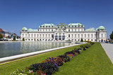 View of the historic palace Upper Belvedere, Vienna, Austria