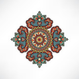 Abstact floral geometric pattern Arabic ornament card background