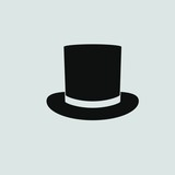 Top hat icon vector