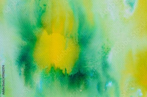 Fototapeta green watercolor painted background