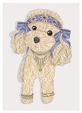 Cute hipster dog. Fashion illustration with poodle - 111470590