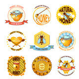 Set Of Honey Emblems