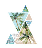Abstract summer geometric background
