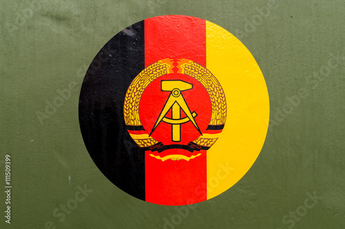 Poster DDR Flagge