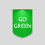 Go green banner for web