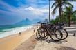 Quadro Bicycle parked in Ipanema beach in Rio de Janeiro. Brazil