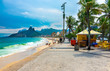 Quadro Ipanema beach and mountain Dois Irmao (Two Brother) in Rio de Janeiro, Brazil