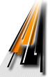 Orange and Black Drawings