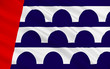 Flag of Des Moines in Iowa, USA