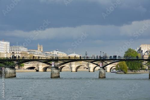 Les ponts de Paris sur la Seine , le pont des Arts Poster