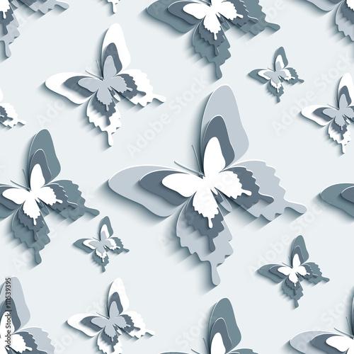 jednolite-wzor-z-bialymi-szare-3d-motyle