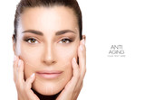Fototapety Beauty Face Spa Woman. Surgery and Anti Aging Concept
