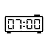 digital clock alarm electronic icon on white background