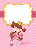 Card with a happy cartoon princess