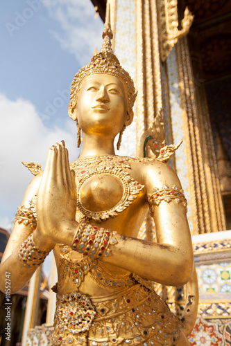 Poster Kinnari statue at Wat Phra Kaew
