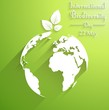 International biodiversity day background with leaves of shape silhouettes