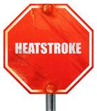heatstroke, 3D rendering, a red stop sign