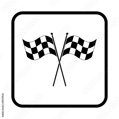 Poster Checkered flags vector icon