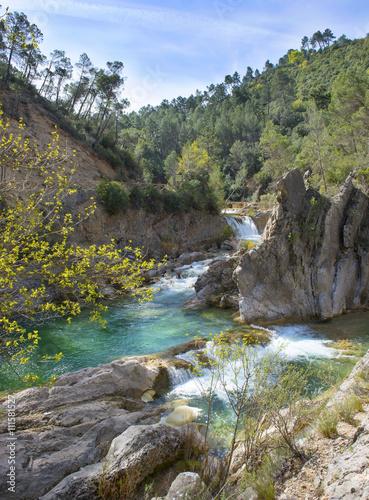 Fototapeta River Borosa Walking Trail in the Sierra Cazorla Mountain Range, Jaen Province, Andalusia, Spain
