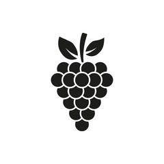 The grapes icon. Grape symbol. UI. Web. Logo. Sign. Flat design. App. Stock