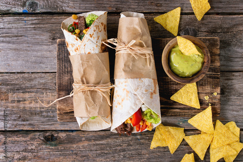 Poster Tortillas and nachos