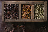 Fototapety Variation of coffee beans