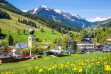 View over Saalbach village in summer, Austria