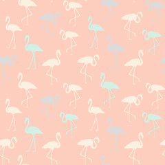 Tropical birds seamless pattern.