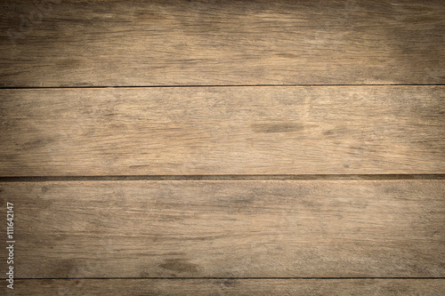 Tuinposter Hout wooden plank wall texture background, Top of wood desk.