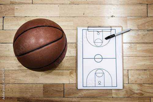 Zdjęcia Basketball Playbook Game Plan Sport Strategy Concepts