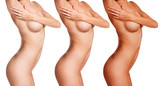 Fototapety Female body before and after tunning