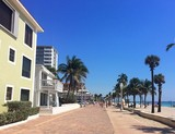 Hollywood beach embankment