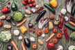 Vegetables colorful background - 111662556