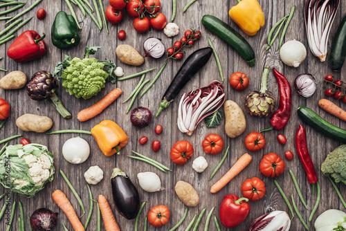 Vegetables colorful background Poster