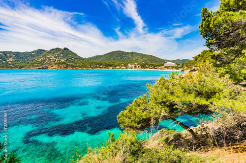 Keuken foto achterwand Noord Europa Idyllic view of the bay coastline Canyamel of Majorca Spain