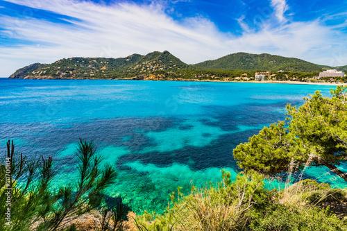 Keuken foto achterwand Noord Europa Panorama Mittelmeer Küste Mallorca Bucht von Canyamel