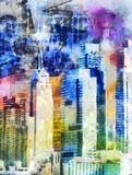 Fototapety New York City Colorful Abstract Painting