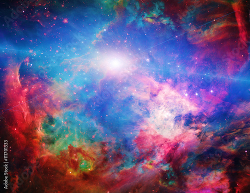 Deurstickers Heelal Galactic Space Elements of this image furnished by NASA