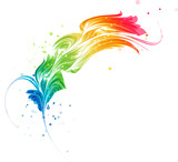 Fototapety Abstract multicolored element, stylized design object